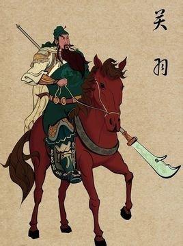 关公骑马画画教学
