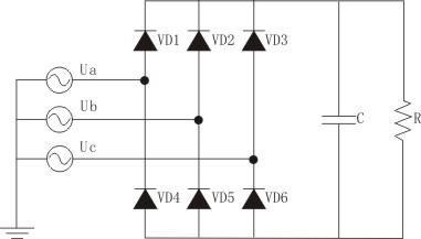 由三相交流电源供电的电路.简称三相电路