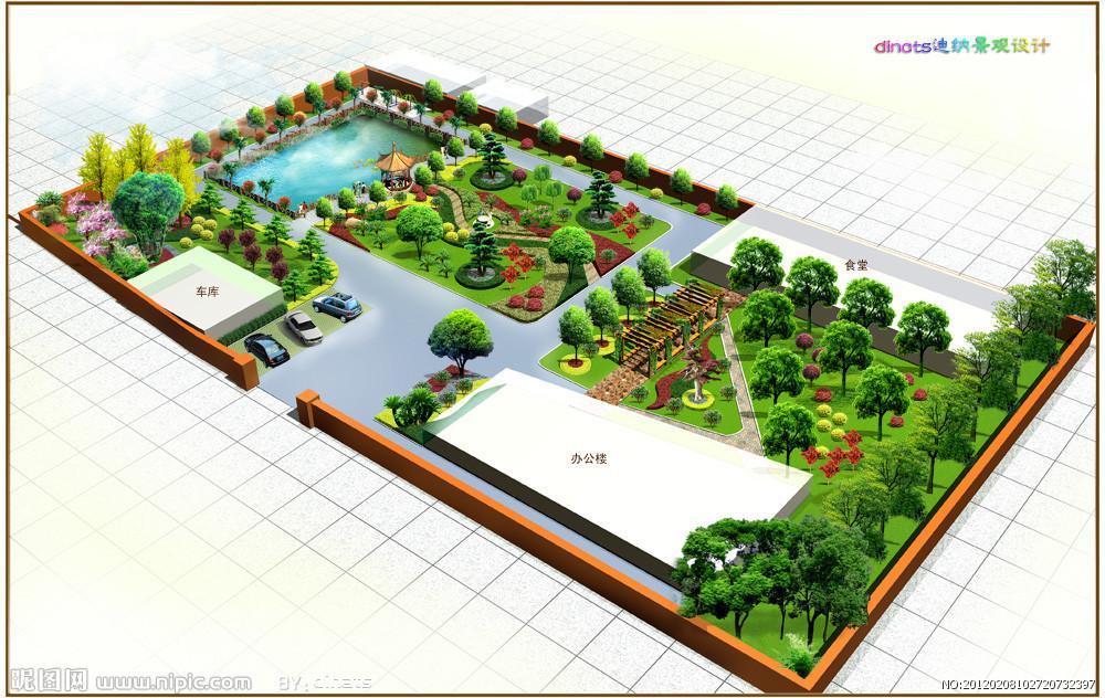 生态是环境景观设计永远的主题,尊重,注重保护和利用现有的校园自然