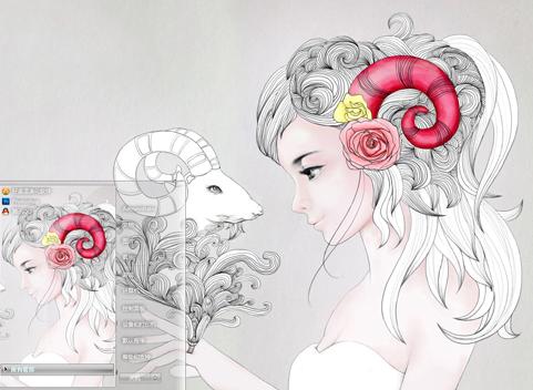 马克笔手绘 白羊