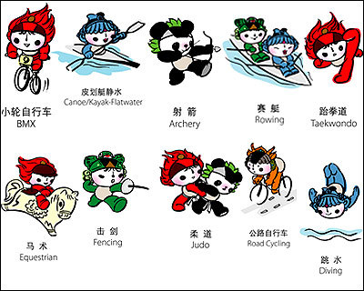 北京2008年奥运会吉祥物图片