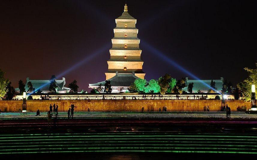 雅韵风乐收藏阁 陕西  大雁塔是西安市著名的旅游景点.