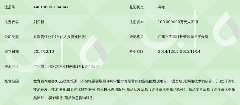广州淘慧教育信息咨询有限公司_360百科