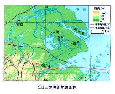 由于地理位置不同,地表的组成物质和形态不同