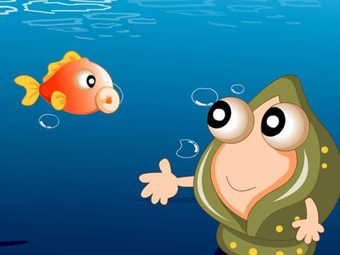 可爱又美丽的小海螺