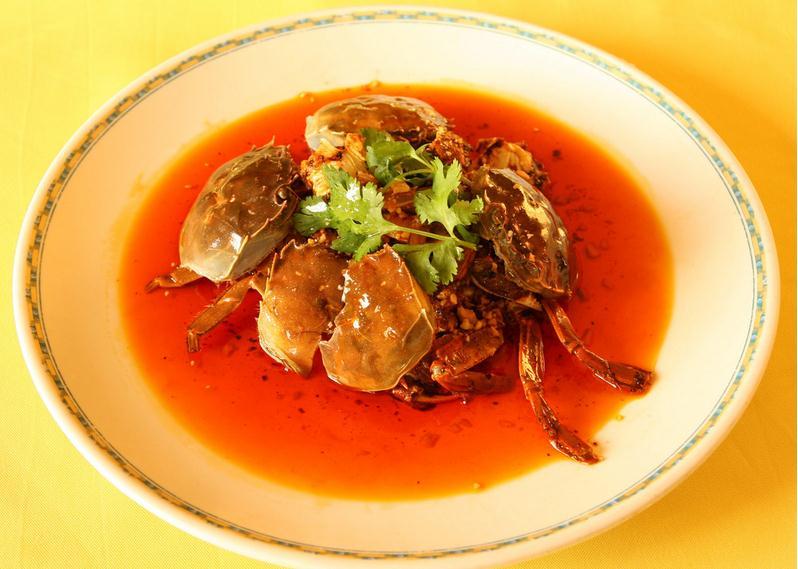 菜单图片素材香辣蟹钳